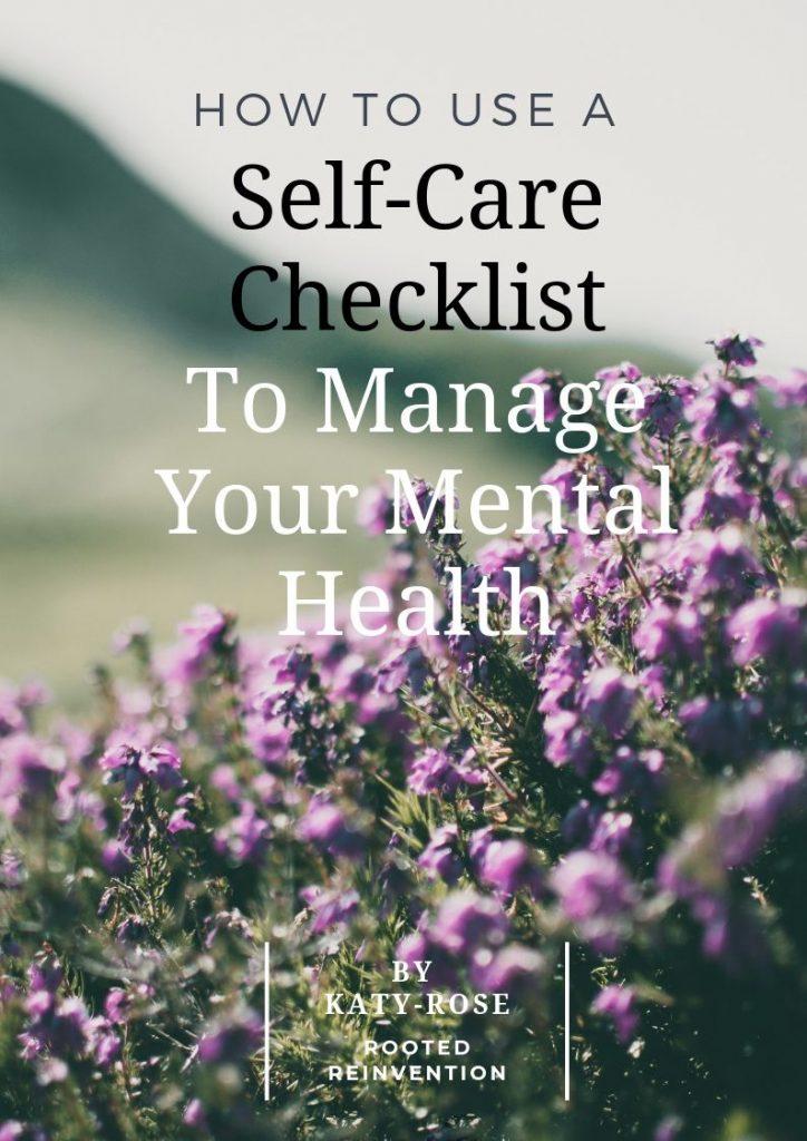 self care checklist cover